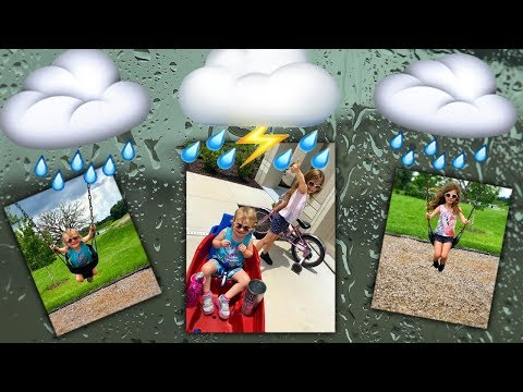 We Walked To The Park & Caught In The Rain - Florida Life - Daily Vlog - Bike Ride To The Playground