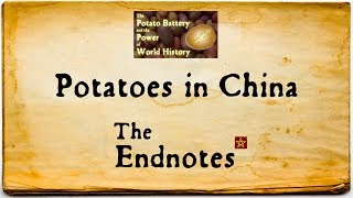 How potatoes brought down two Chinese dynasties. An endnote for our Potato video: https://youtu.be/wdPQ8zFUipwThank you to all our Patreon supporters! Please check out our Patreon: https://www.patreon.com/TheEndlessKnotEndless Knot merchandise can be found in our store: http://www.cafepress.ca/endlessknotImage credits:https://en.wikipedia.org/wiki/File:Ming_Empire_cca_1580_(en).svghttps://commons.wikimedia.org/wiki/File:Chinese_chair_cover,_early_20th_century,_silk,_cut-velvet_weave,_Honolulu_Museum_of_Art.JPGhttps://pixabay.com/en/sweet-potato-garden-plot-thu-harvest-1241696/https://en.wikipedia.org/wiki/File:Eroding_rill_in_field_in_eastern_Germany.jpghttps://en.wikipedia.org/wiki/File:Flag_of_the_Qing_Dynasty_(1889-1912).svgWebsite: http://www.alliterative.net/Blog: http://www.alliterative.net/blogTwitter: https://twitter.com/alliterativeFacebook: https://www.facebook.com/alliterativeendlessknotGoogle Plus: https://plus.google.com/115113245513532543153/aboutTumbler: http://alliterative-endlessknot.tumblr.com/SoundCloud: https://soundcloud.com/alliterativePodcast: http://www.alliterative.net/podcast or https://itunes.apple.com/ca/podcast/endless-knot-podcast-endless/id1016322923?mt=2Click here to sign up for our video email list, to be notified when new videos are posted: http://eepurl.com/6YuJvClick here to sign up for our podcast email list, to be notified when new podcast episodes go up: http://eepurl.com/btmBZTTranscript:Welcome to the Endnotes, where I put all the fun facts I can't fit into the main videos! Today, an extra bit of information from my video about the Potato — and if you haven't seen that yet, click on the card.The potato didn't just have an impact on European civilization but also on the places that the European traders visited. It could even be argued that this Columbian exchange helped to bring down two Chinese dynasties. You see what the Spanish really wanted was Chinese silk, which they were able to purchase with all that South American sil