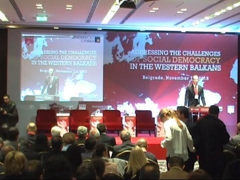 Бојан Пајтић, Сергеј Станишев – уводне речи на конференцији Изазови социјалдемократије на Западном Балкану