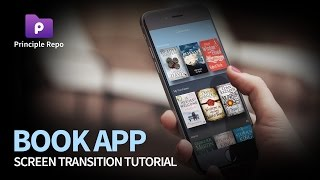 Book App - Screen Transition Tutorial with Principle