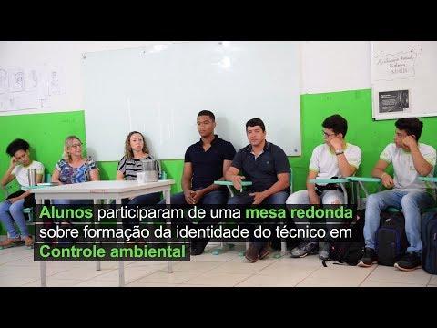 Alunos participam de mesa redonda sobre formação da identidade do técnico em Controle Ambiental