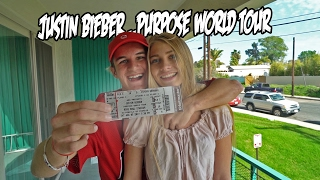 SURPISING MY GIRLFRIEND WITH JUSTIN BIEBER TICKETS!!!