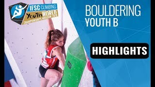IFSC Youth World Championships Moscow 2018- Youth B Bouldering Finals Highlights by International Federation of Sport Climbing