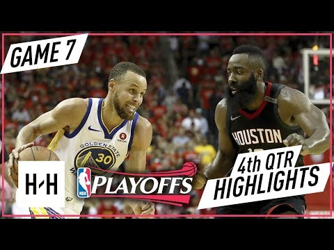 Golden State Warriors vs Houston Rockets - Full Highlights - Game 7 - 4th Qtr | 2018 NBA West Finals (видео)