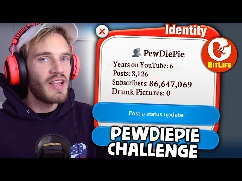 The PewDiePie Challenge In Bitlife - How Many Followers Can We Get?
