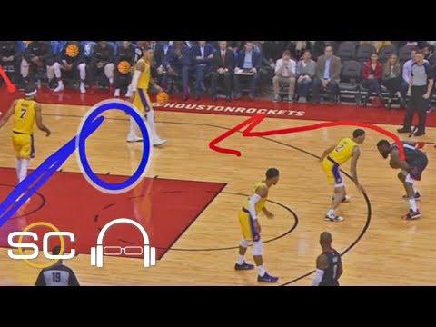 Video: NBA film breakdown: James Harden vs. Lakers   SC with SVP