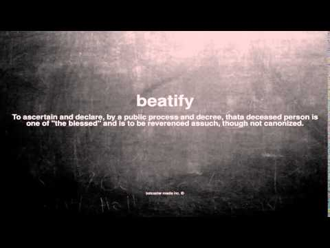 What does beatify mean