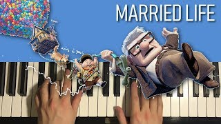 Video HOW TO PLAY - UP - Married Life (Piano Tutorial Lesson) MP3, 3GP, MP4, WEBM, AVI, FLV Juni 2018