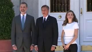 Encuentro de SS.MM. los Reyes con el presidente de Eslovenia