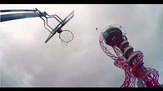 Youtube Tricksters Hit Backwards Basketball Shot From UK's Tallest Sculpture