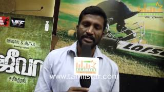 Director Suseenthiran at Jeeva Movie Audio Launch