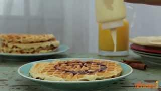 Waffle Recipes - How To Make Cinnamon Roll Waffles