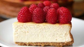 Lighter Raspberry Cheesecake by Tasty