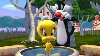 Piu Piu e Frajola com outros personagens do antigo desenho no terceiro episódio de Looney Tunes Dash