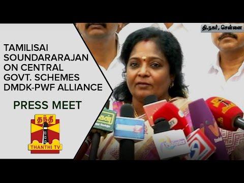Tamilisai-Soundararajan-on-Central-Government-Schemes-DMDK--PWF-Alliance-Press-Meet