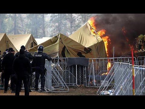 Σλοβενία: Εκτεταμένη πυρκαγιά σε προσφυγικό καταυλισμό