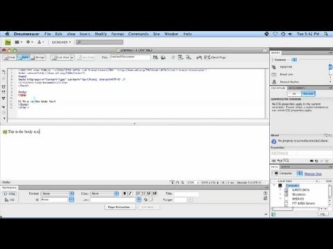 indreamweaver - Subscribe Now: http://www.youtube.com/subscription_center?add_user=Ehowtech Watch More: http://www.youtube.com/Ehowtech Attaching CSS to PHP in Dreamweaver i...