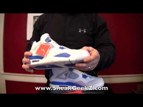 0 Air Jordan IV Military Blue   Video Review
