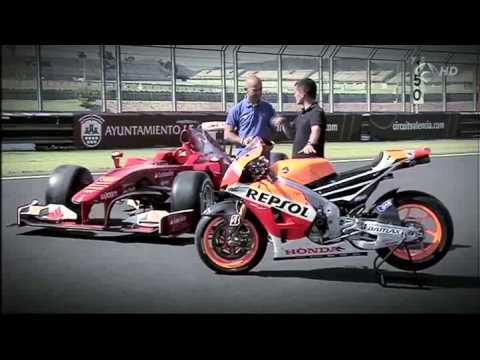 f1 vs motogp (El coche y la moto más rápidos del mundo)