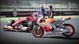 Video f1 vs motogp (El coche y la moto más rápidos del mundo) MP3, 3GP, MP4, WEBM, AVI, FLV November 2017
