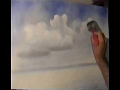Como pintar núvens