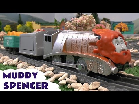 Thomas - Trackmaster Muddy Spencer from Thomas and Friends. This Thomas Tank toy train is available from Toys R Us. Subscribe to This Channel here ...