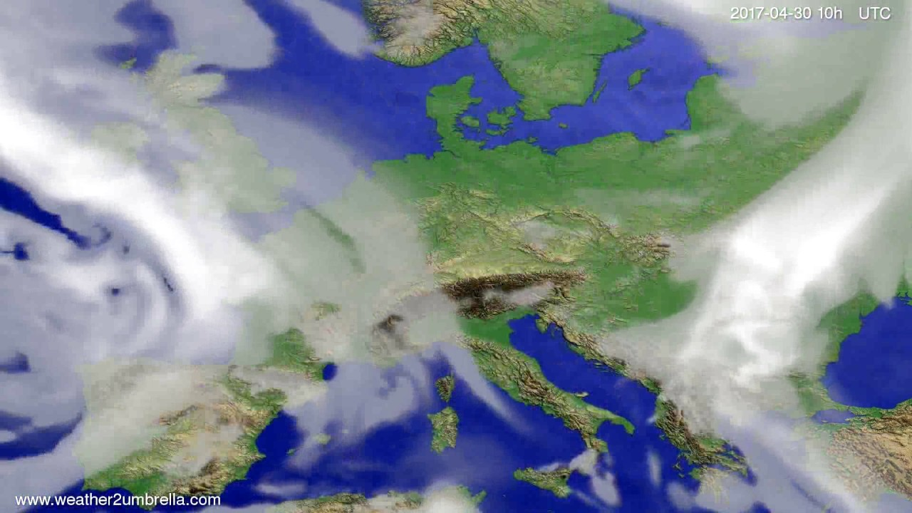 Cloud forecast Europe 2017-04-28