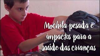 Mochila pesada e impactos para a saúde das crianças