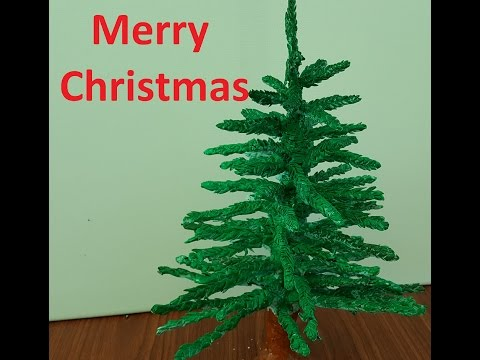 DIY How to make Christmas tree using Clay