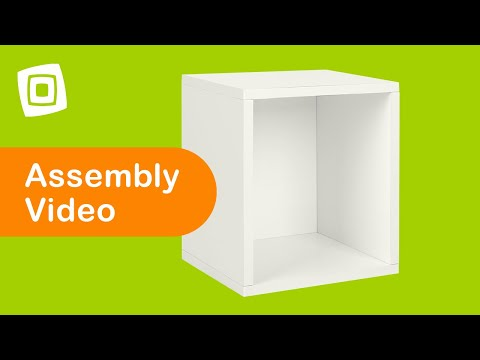 Video for Eco Friendly White Modular Storage Cube Plus