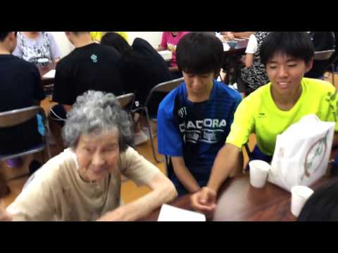 戸倉復興住宅 北海道大樹町立大樹中学校生徒の皆さん(2)