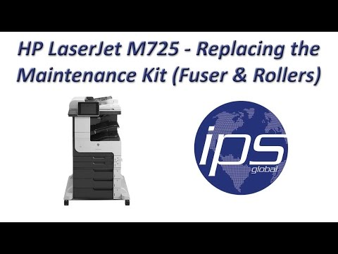 HP LaserJet M725 - Replacing the Maintenance Kit (including Fuser & Rollers)