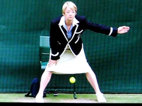 Wimbledon Line Judge lays egg / ball