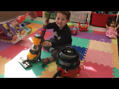 Toy Dyson Ball Vacuum Cleaner | Casdon Toys | Toy Review | Toddler Cleaning | Role Play Video