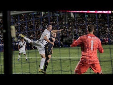 Video: GOAL: Zlatan Ibrahimovic header puts the LA Galaxy ahead on LAFC