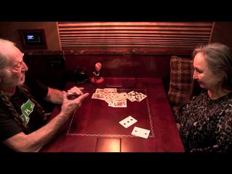 Willie Nelson tells a story using card tricks