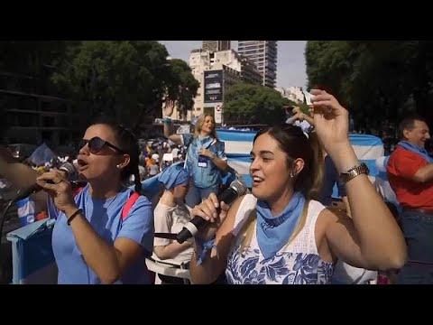 Πορεία στην Αργεντινή κατά των αμβλώσεων