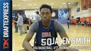 Jalen Smith USA Basketball U17 Training Camp Interview