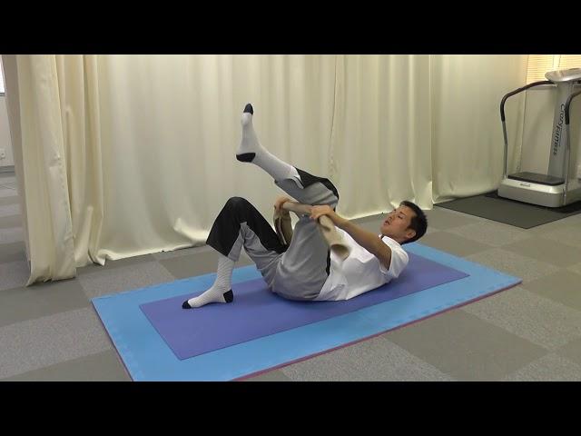 【セルフケア動画】脊柱管狭窄症由来の坐骨神経痛には 『膝抱え』のストレッチ