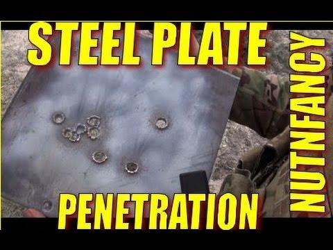 Steel Plate Penetration Tests: 7.62mm, 5.56mm