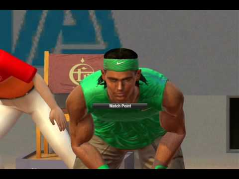 Virtua Tennis 2009 PC Gameplay – Nadal vs Nalbandian ( VERY HARD )