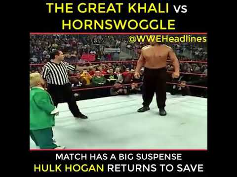 The Great Khali vs Hulk Hogan