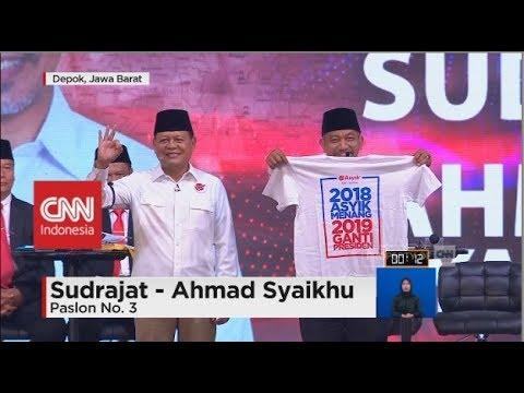 Ricuh Debat Pilgub Jabar, Paslon Nomor 3 Keluarkan Kaus #2019GantiPresiden