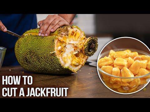 How To Cut A Jackfruit | Fresh Kathal Cutting | Best Kitchen Hacks | Fruit Cutting Skills | Varun
