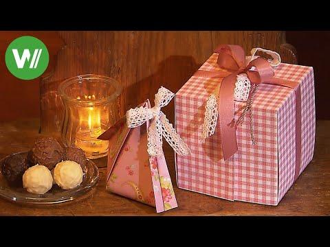 Geschenkbox selber basteln - mit Anleitung