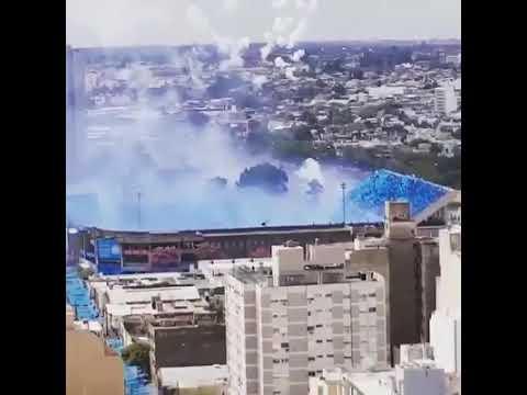 Hinchada de Club Atlético Belgrano De Cordoba - Los Piratas Celestes de Alberdi - Belgrano - Argentina - América del Sur