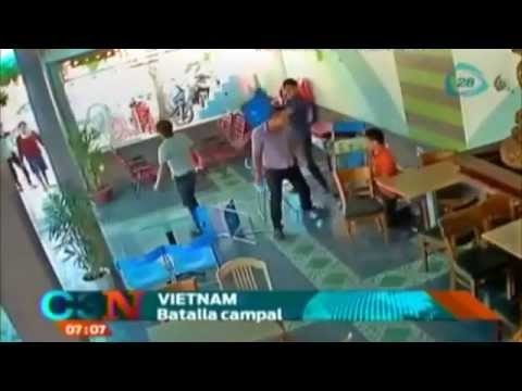 Se desata batalla campal en restaurante de Vietnam