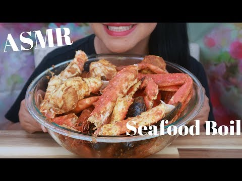 ASMR - The Boiling King Crab Dipped W Bloves Sauce - Request No Lemons, No Ice (No Talking) - Thời lượng: 25 phút.