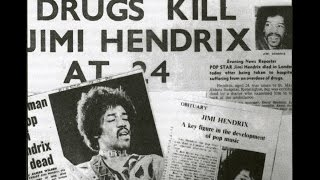 Jimmy Hendrix final 24hrs pt 1:This clip explains alot of things about Jimmy Hendrix most people don't know.The cause of death was listed as from inhaling Red wine.
