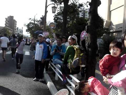 シティマラソン福岡2011 当仁小学校前